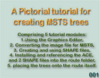 A Pictorial tutorial for creating MSTS Trees